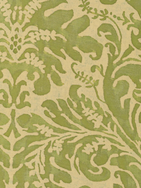 5358 SEVRES in bayou-lime green & beige Fortuny Printed Cottons