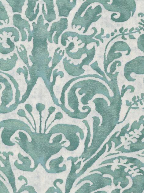 5360 SEVRES in french blue & antique white Fortuny Printed Cottons