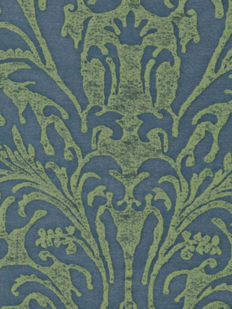 5408 SEVRES in prune blue & green Fortuny Printed Cottons