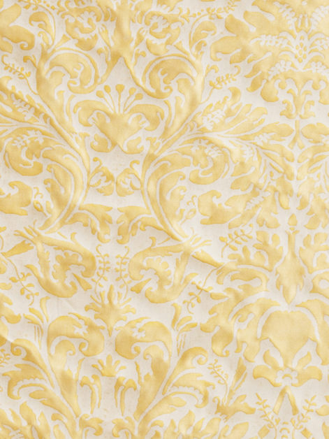 5632 SEVRES in straw & off-white Fortuny Printed Cottons