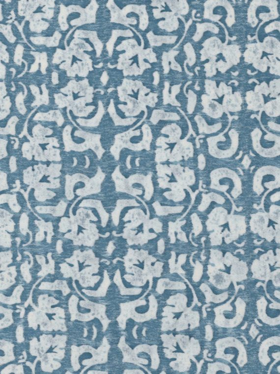 5468 SHIRAZ in azure blue & antique white Fortuny Printed Cottons