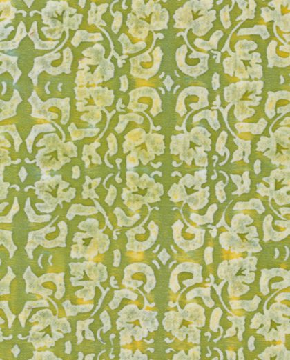 5472 SHIRAZ in sulphur green & white Fortuny Printed Cottons
