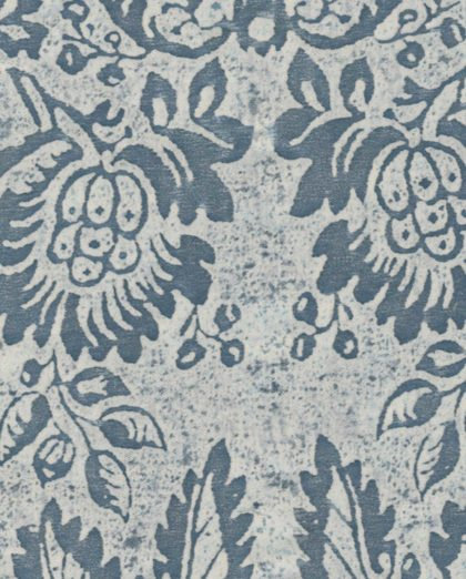 5507 SOLIMENA in azure blue & old white Fortuny Printed Cottons