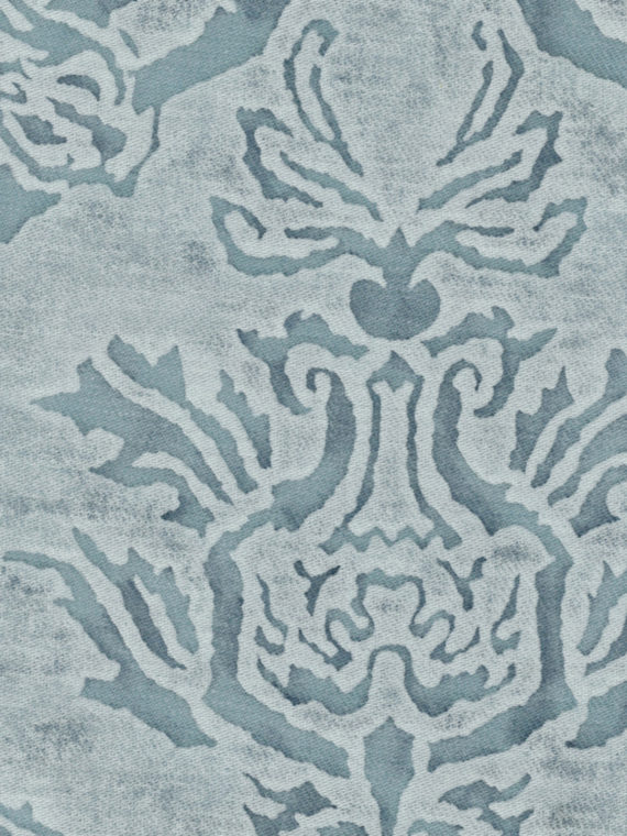 5058 SPAGNOLO in blue & white texture Fortuny Printed Cottons