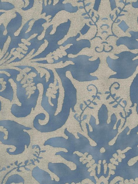 5355 SEVRES in brilliant blue & silvery gold Fortuny Printed Cottons