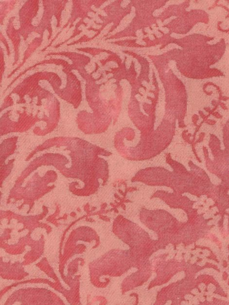 5727 SEVRES in red museum texture Fortuny Printed Cottons