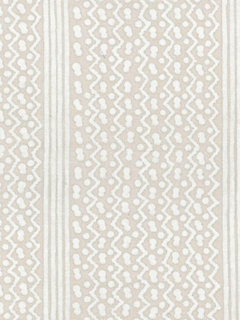 5402 TAPA STRIPE in white on off-white texture Fortuny Printed Cottons