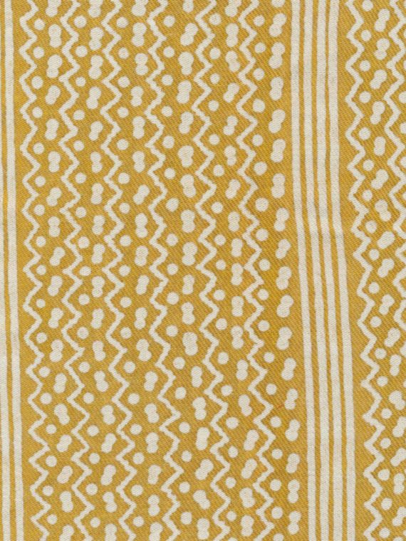 5404 TAPA STRIPE in yellow & white texture Fortuny Printed Cottons