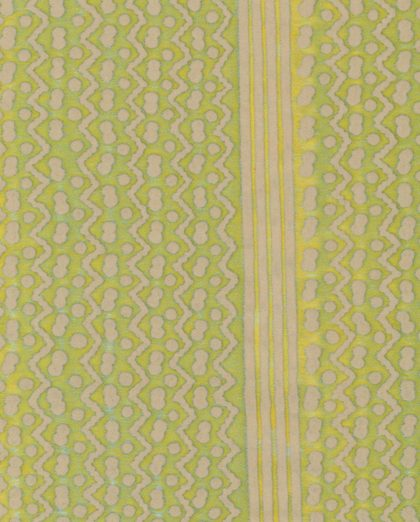5405 TAPA STRIPE in sulphur green & off-white Fortuny Printed Cottons