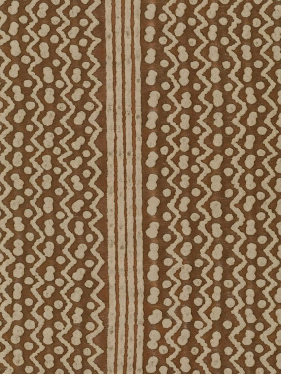5418 TAPA STRIPE in brown & warm white Fortuny Printed Cottons