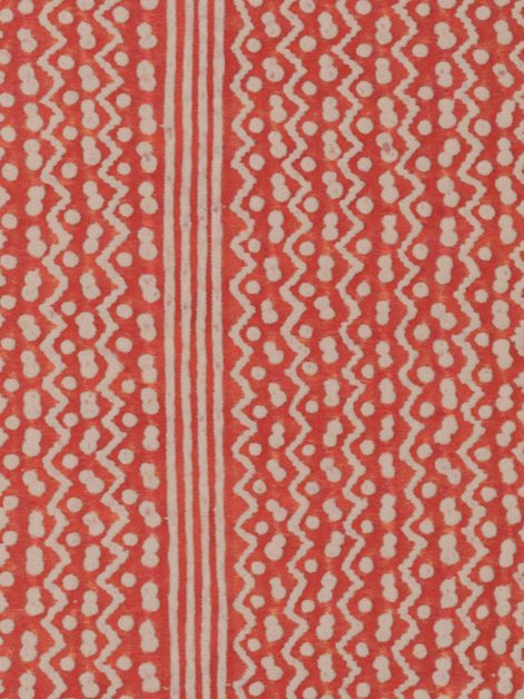 5419 TAPA STRIPE in bittersweet & warm white Fortuny Printed Cottons