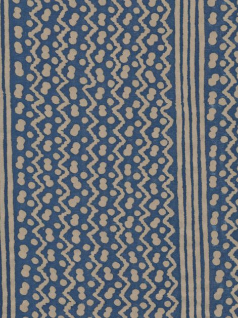 5466 TAPA STRIPE in brilliant blue & warm white Fortuny Printed Cottons
