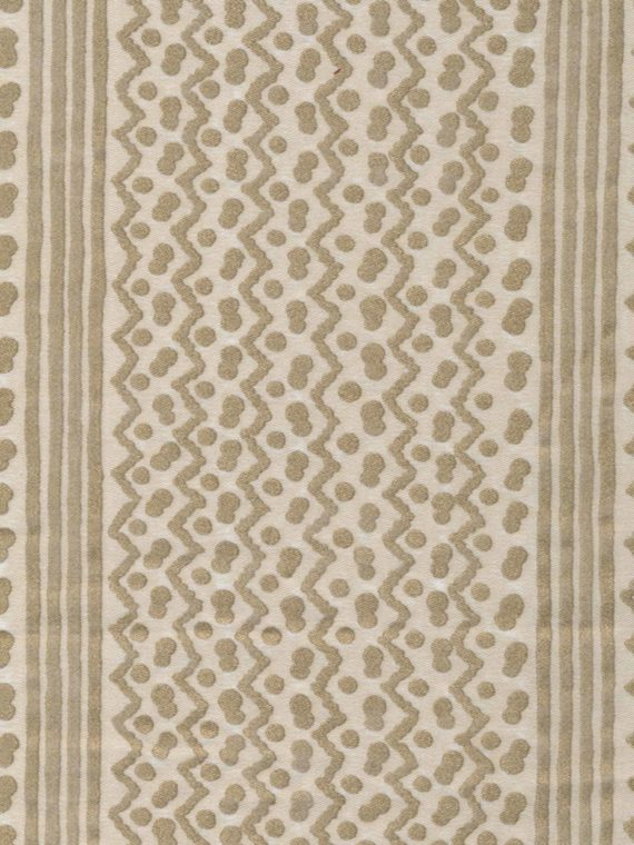 5485 TAPA STRIPE in old white & gold Fortuny Printed Cottons