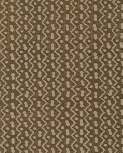 5424 TAPA in brown & warm white Fortuny Printed Cottons