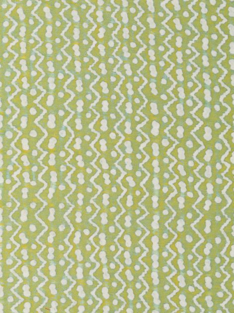 5481 TAPA in sulphur green & white Fortuny Printed Cottons
