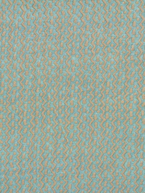 5730 TAPA in aquamarine & silver Fortuny Printed Cottons