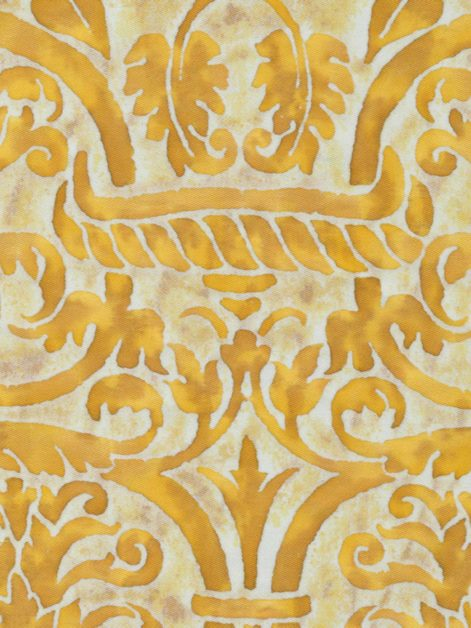 5086 UCCELLI in yellow & white Fortuny Printed Cottons