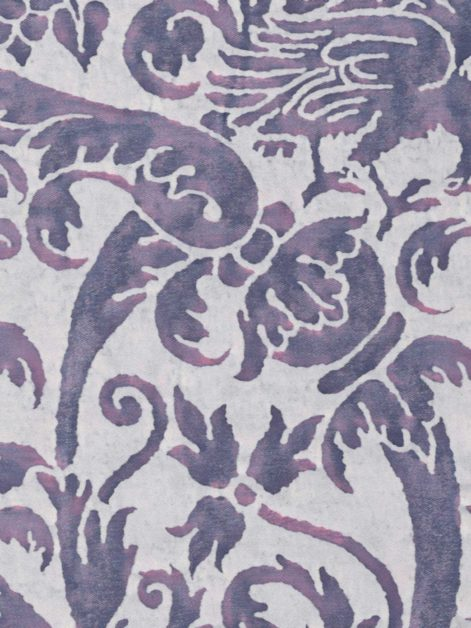 5156 UCCELLI in amethyst & ivory Fortuny Printed Cottons