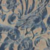 5288 UCCELLI in dark blue & beige Fortuny Printed Cottons