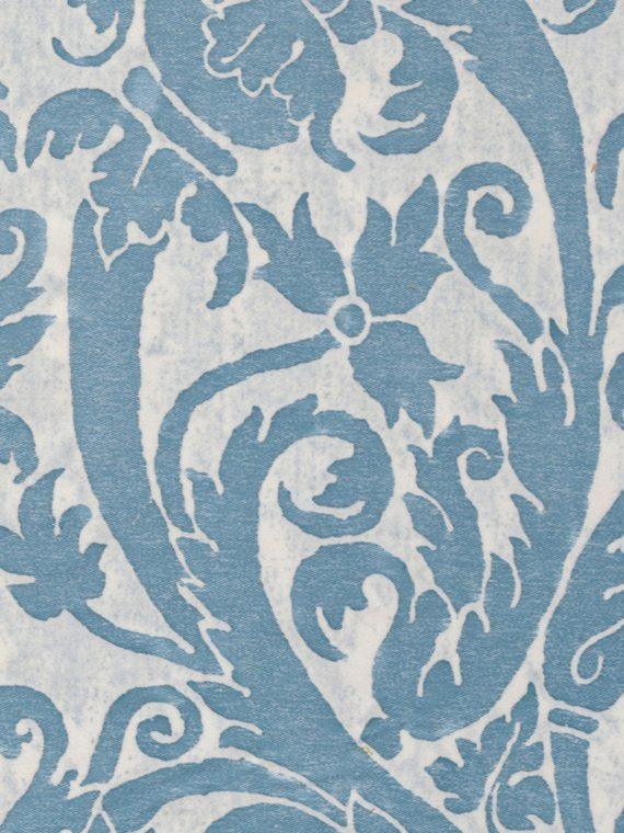5309 UCCELLI in azure blue & antique white Fortuny Printed Cottons