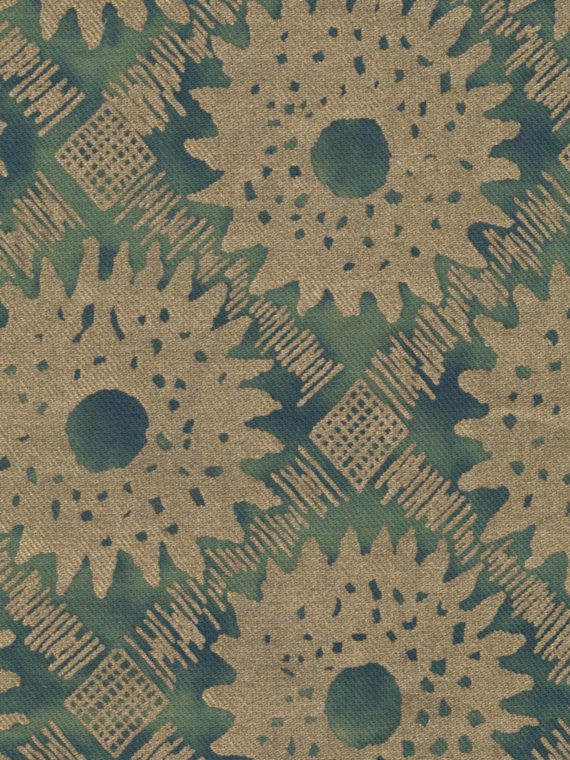 5636 VANA in green & gold texture Fortuny Printed Cottons