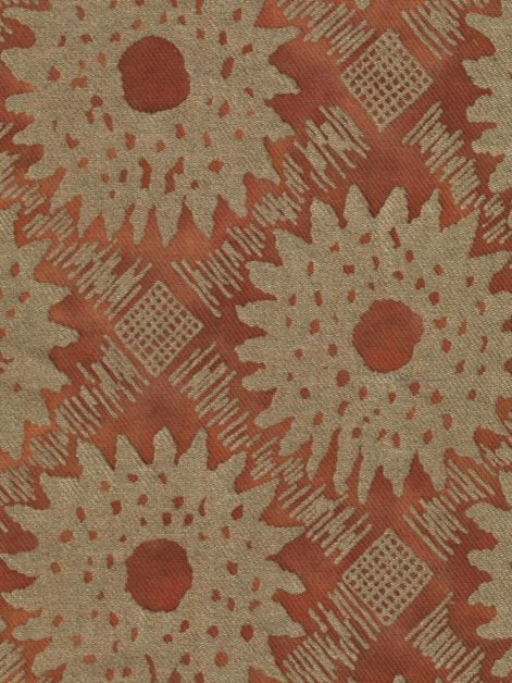 5637 VANA in rust & gold texture Fortuny Printed Cottons