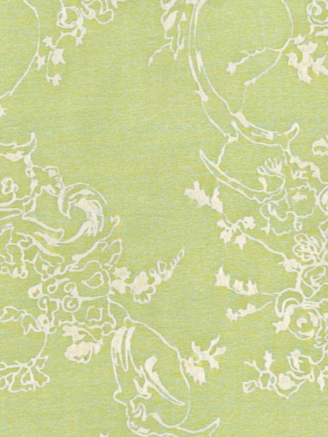 5382 VENEZIANINA in green & white Fortuny Printed Cottons