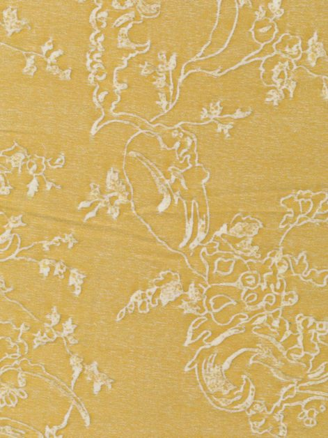 5384 VENEZIANINA in yellow & antique white Fortuny Printed Cottons