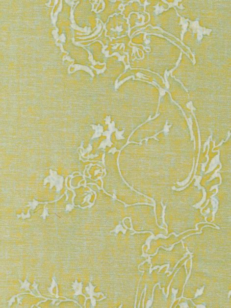 5385 VENEZIANINA in sulphur green & antique white Fortuny Printed Cottons