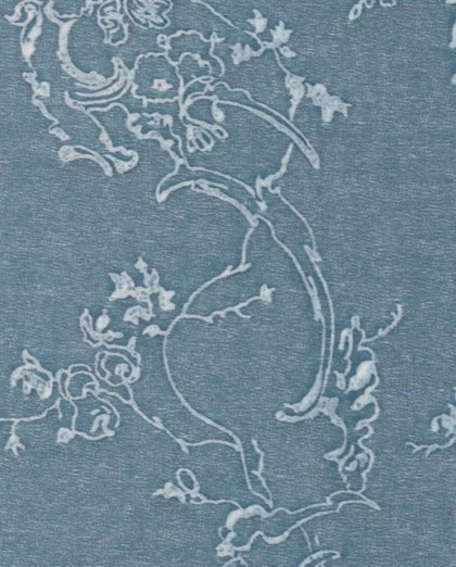 5467 VENEZIANINA in azure blue & white Fortuny Printed Cottons