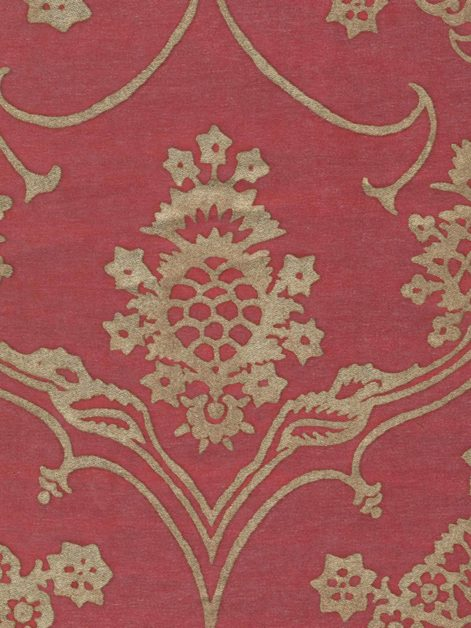 5638 VERONESE in raspberry & silvery gold Fortuny Printed Cottons