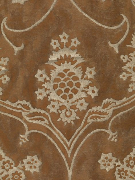 5639 VERONESE in warm french brown & gold Fortuny Printed Cottons