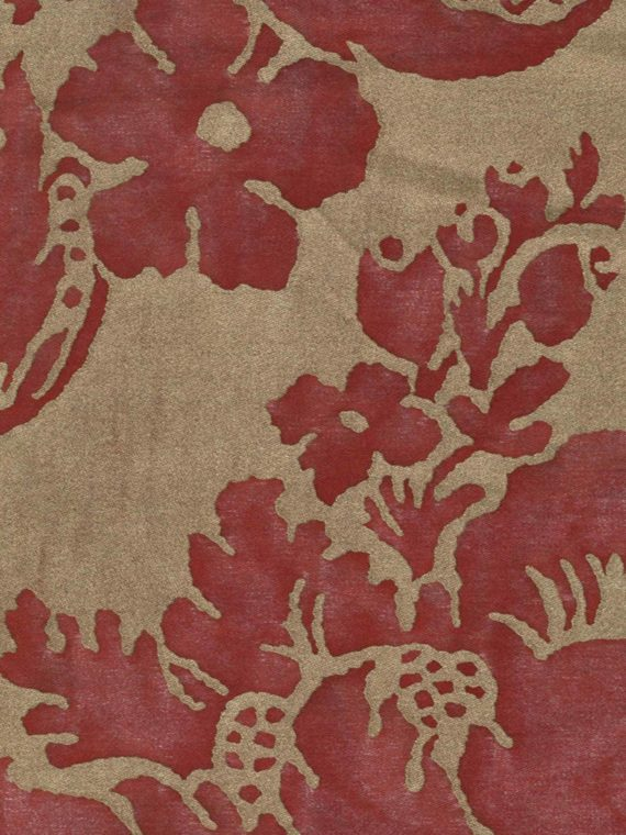 5289 VIVALDI in red & gold Fortuny Printed Cottons