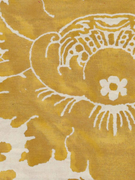 5425 VIVALDI in yellow & white texture Fortuny Printed Cottons