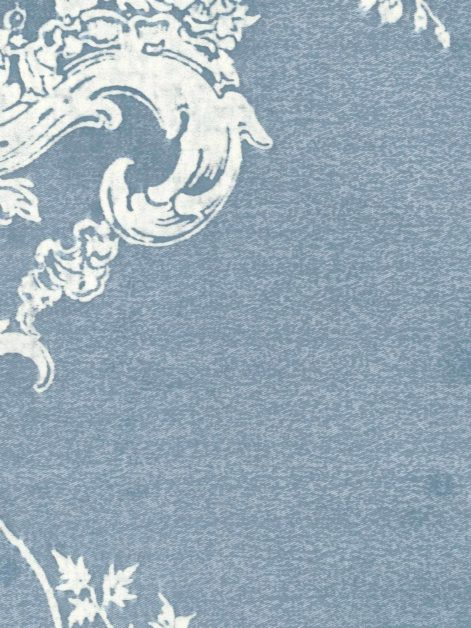 5317 VENEZIANO in azure blue & antique white Fortuny Printed Cottons