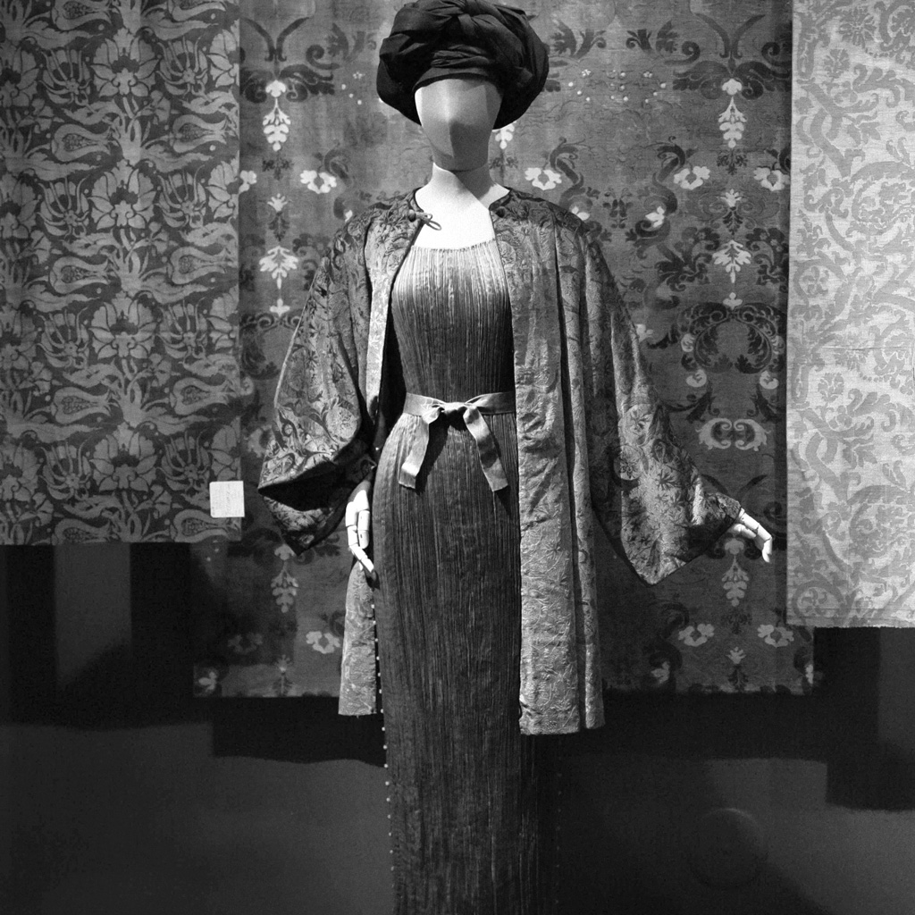 Delphos Gown and Fortuny Vintage Jacket at Queen Sofia's Exhibition