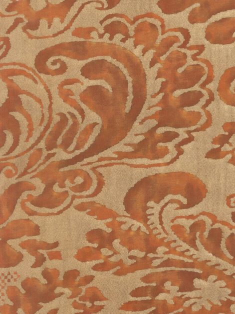 5277 SEVIGNE in rust & gold Fortuny Printed Cottons