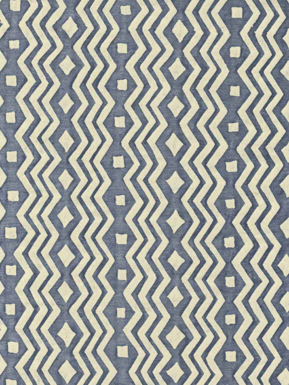5842 ITZA in midnight & ivory Fortuny Printed Cottons
