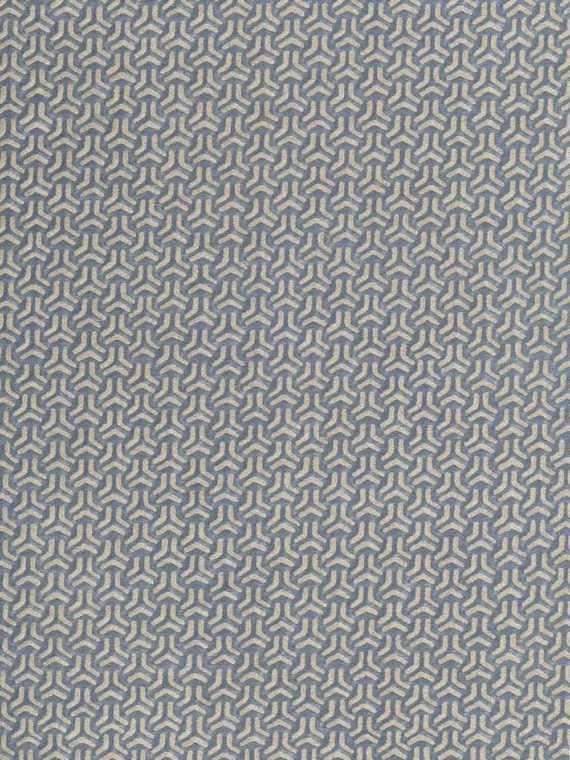 5852 BIVIO in blue-grey & silver Fortuny Printed Cottons