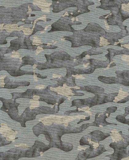 5748 CAMO ISOLE in charcoal & gold Fortuny Printed Cottons