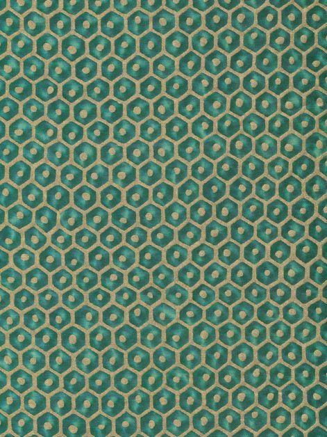 5833 FAVO in emerald & gold Fortuny Printed Cottons
