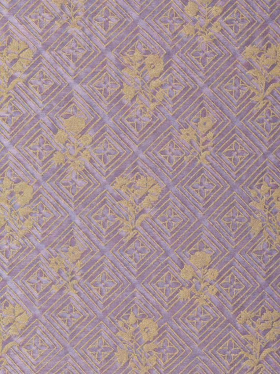 5860 JUPON BOUQUET in pale lavender & gold Fortuny Printed Cottons