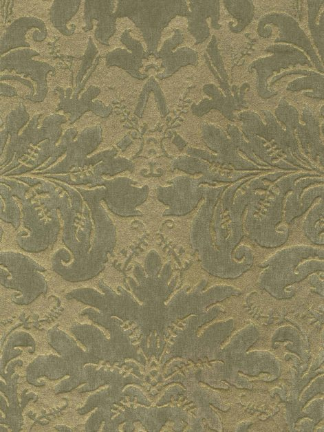 FF-8001 LUCREZIA in sage & gold Fortuny Velvets
