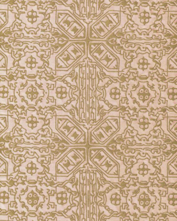5870 MORESCO in faded rose & gold Fortuny Printed Cottons