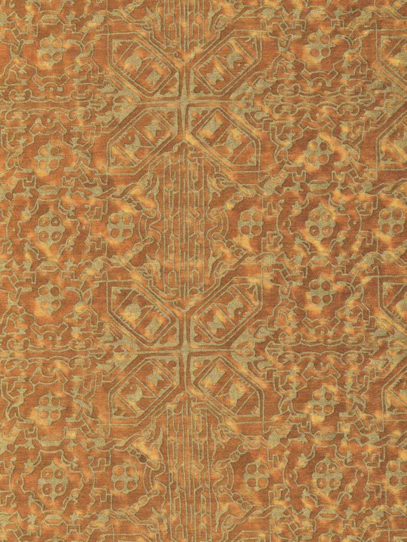 5872 MORESCO in ochre & gold Fortuny Printed Cottons