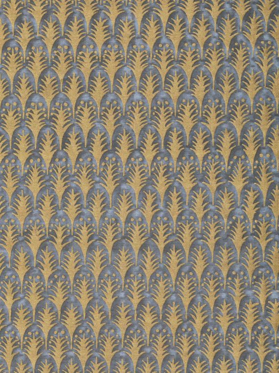 5881 PIUMETTE in charcoal & gold Fortuny Printed Cottons