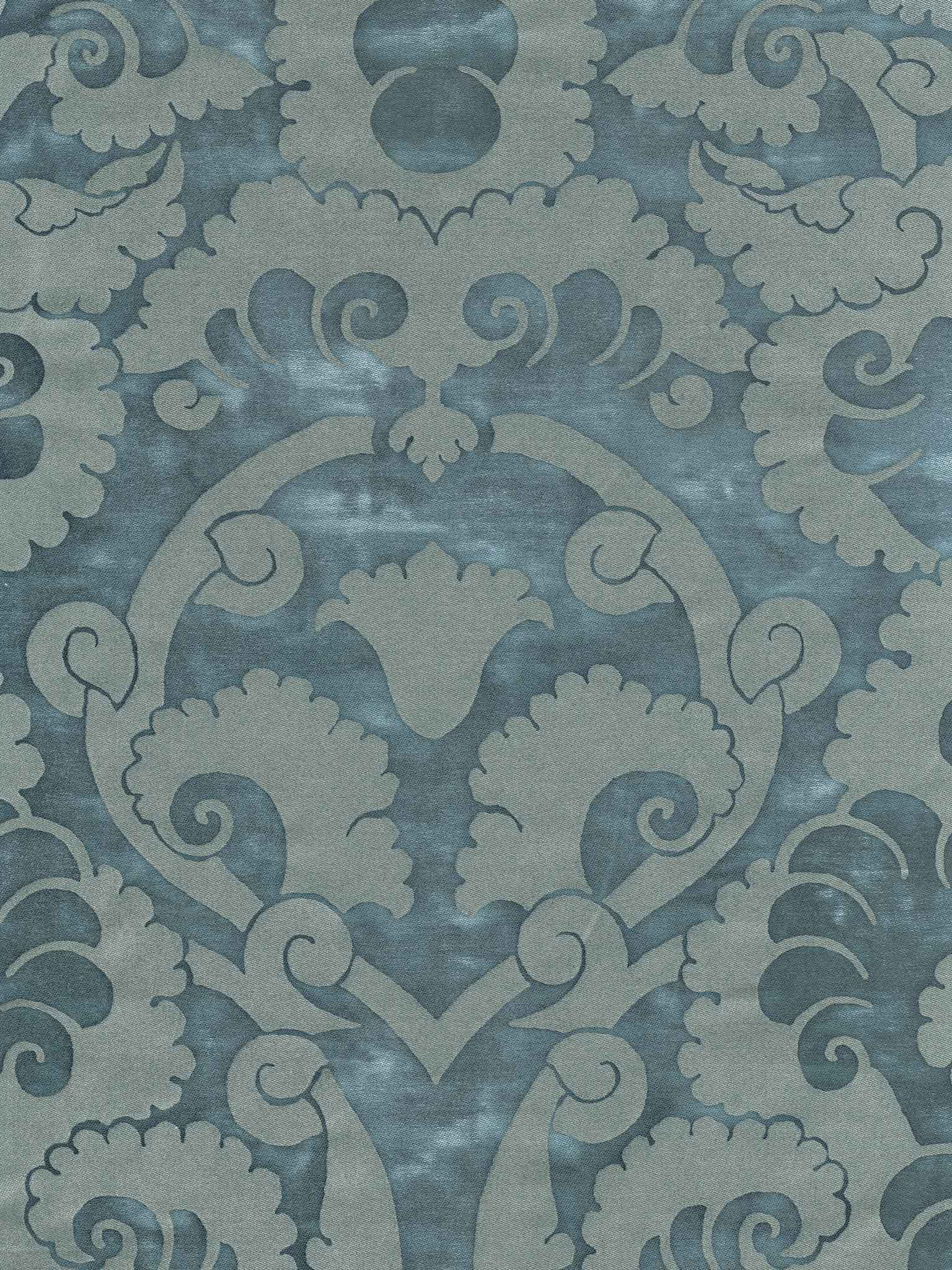 5891 LAOTZE in midnight fog Fortuny Printed Cottons