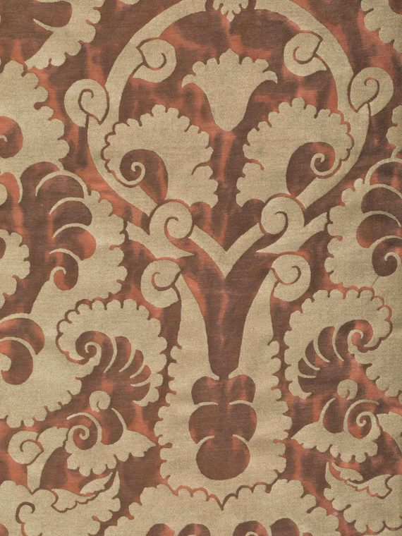 5893 LAOTZE in oxblood spice & gold Fortuny Printed Cottons