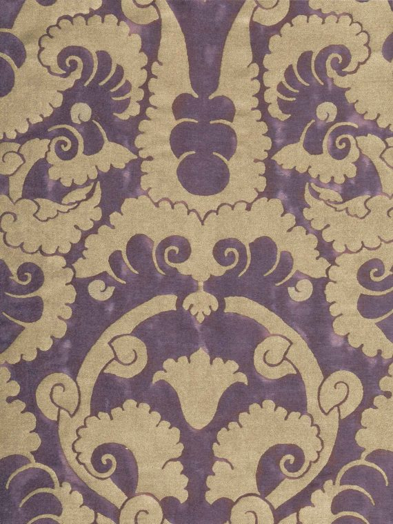 5894 LAOTZE in plum fog & gold Fortuny Printed Cottons