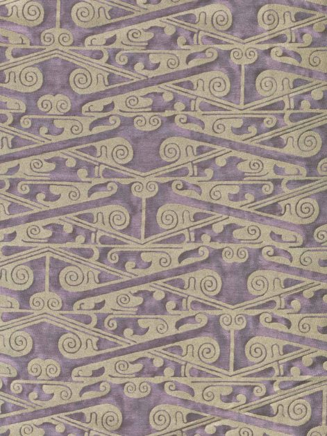 5900 TZIN in plum fog & aluminum Fortuny Printed Cottons